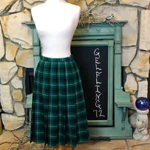 Pendleton Wool Plaid Skirt